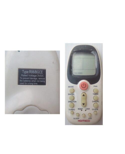 R06/BGCE AC remote